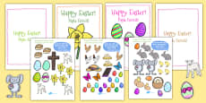 Easter Card Templates large Romanian Translation