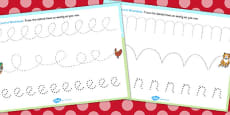The Little Red Hen Pencil Control Sheets
