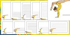The Olympics Artistic Gymnastics Page Borders