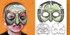 3D Halloween Witch Monster Role Play Mask