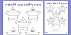 Matariki Goal Setting Stars