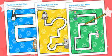 Pencil Control Path Worksheets to Support Teaching on The Great Pet Sale