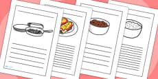 Mexican Food Writing Frames