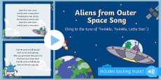 Aliens From Outer Space Song PowerPoint to Support Teaching on Aliens Love Underpants