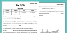 1916 Rising The GPO Cloze Activity