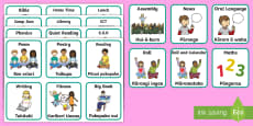 Visual Timetable Flashcards English/Te Reo Māori