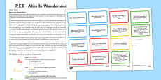 Point Evidence Explanation Activity Alice in Wonderland
