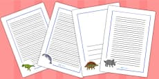 Realistic Dinosaurs Page Borders Larger Images