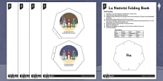 French The Nativity Folding Book Activity Sheet