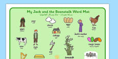 Jack and the Beanstalk Word Mat Arabic Translation