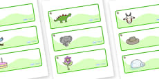 Turtle Themed Editable Drawer-Peg-Name Labels