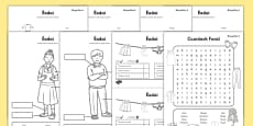 Clothes Activity Sheet Pack Gaeilge