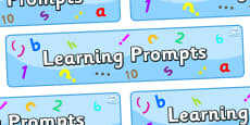 Learning Prompts Display Banner
