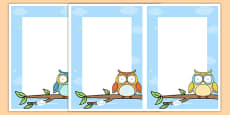 Cute Owl Themed Editable Notes