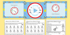 Telling time to the nearest 5 minutes Differentiated Lesson Teaching Pack