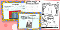 William Sheakespeare Differentiated Lesson Teaching Pack