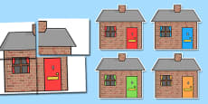 Brick Houses A2 Display Cut Outs with Numbers Posting Letters