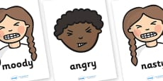 Nasty Character Word Posters and Writing Aids