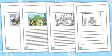 The Snow Queen Story Writing Frames
