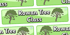 Rowan Tree Themed Classroom Display Banner
