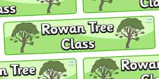 Rowan Tree Themed Classroom Display Banner