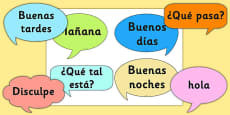 Social Greetings Prompt Cards Spanish