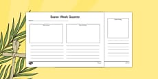 Easter Week Gazette Writing and Drawing Template