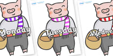 Days of the Week on Little Piggy
