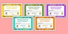 Reading Challenge Chart Certificates