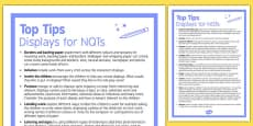 Top Ten Tips for Displays for NQTs