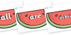 Tricky Words on Watermelons to Support Teaching on The Very Hungry Caterpillar
