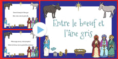 Between The Ox and The Grey Donkey PowerPoint French