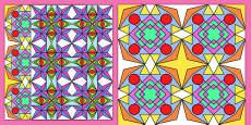 Diwali Rangoli Pattern Sheets