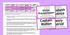 Frankenstein Character Cards Resource Pack