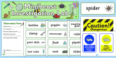 Minibeasts Investigation Lab Role Play Pack
