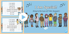 * NEW * I Am Special Song PowerPoint