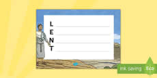 Lent Acrostic Poem