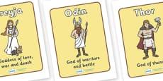 Viking Gods Display Posters