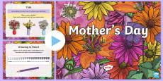 * NEW * KS2 Mother's Day Art PowerPoint