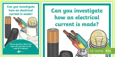 Science Electrical Circuit Investigation Prompt Display Poster