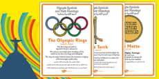 The Olympics Symbols and Their Meanings Display Posters Arabic Translation