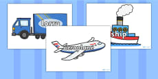 Transport Words On Related Images
