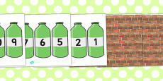Ten Green Bottles Cut Outs