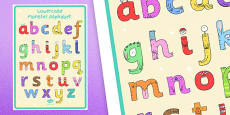 Lower-Case Monster Alphabet Large Display Poster