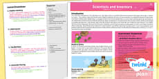 PlanIt - Science Year 6 - Scientists and Inventors Unit Planning Overview