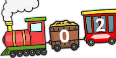 Counting in 2s Number Train