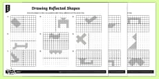 * NEW * Drawing Reflected Shapes Differentiated Activity Sheets