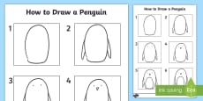 * NEW * How to Draw a Penguin Activity Sheet