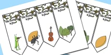 The Ant and the Grasshopper Editable Bookmarks