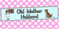 Australia - Old Mother Hubbard Display Banner